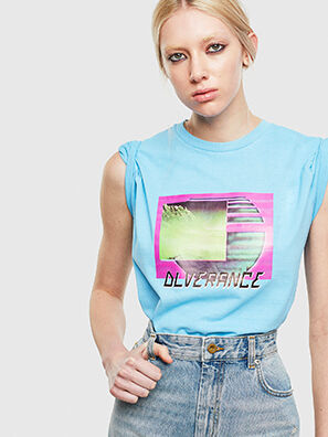 T-JUST-NEON-S1, Azure - T-Shirts