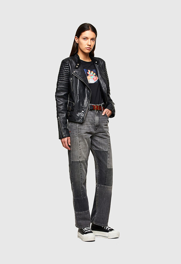 L-IGE-NEW-A, Black - Leather jackets