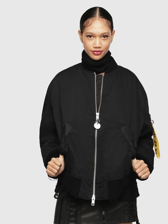 Diesel - W-ZALIA, Black - Winter Jackets - Image 1