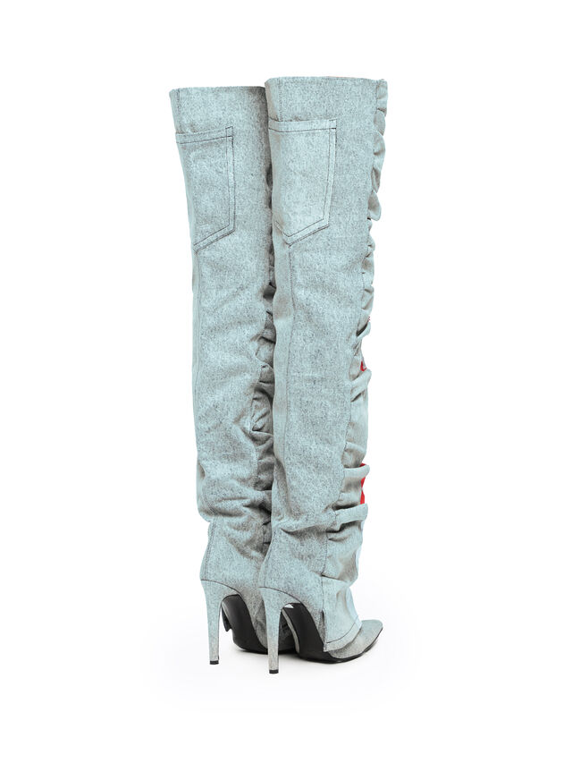 Diesel - SOHIGHBOOT, Grey Jeans - Boots - Image 3