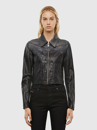Diesel - L-SHAE, Black - Leather jackets - Image 1