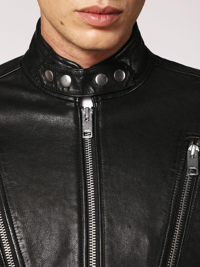 Diesel - L-HARDSTYLE, Black - Leather jackets - Image 3