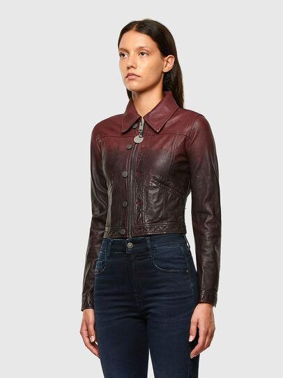 Diesel - L-SHAE, Dark Violet - Leather jackets - Image 7