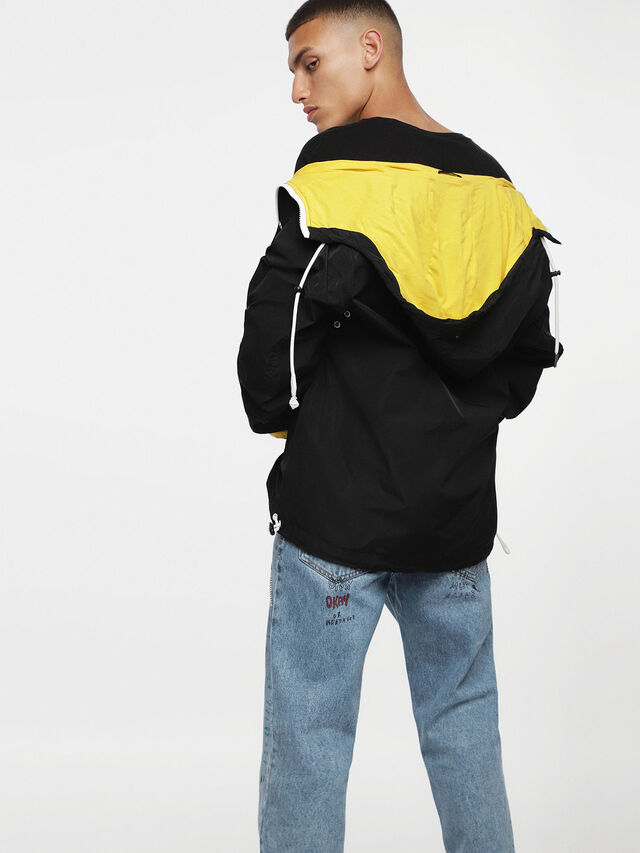 Diesel - J-PHOEN-PLAIN, Black/Yellow - Jackets - Image 2