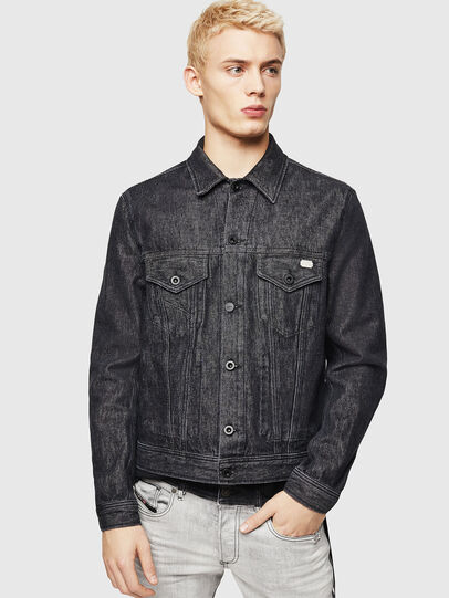 Diesel - D-BRAY, Black - Denim Jackets - Image 1