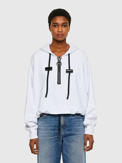 Diesel - F-CROPPY, White - Sweaters - Image 1