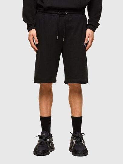 Diesel - P-CROWN-LOGO, Black - Shorts - Image 1