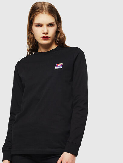 Diesel - T-DIEGO-DIV-LS, Black - T-Shirts - Image 2