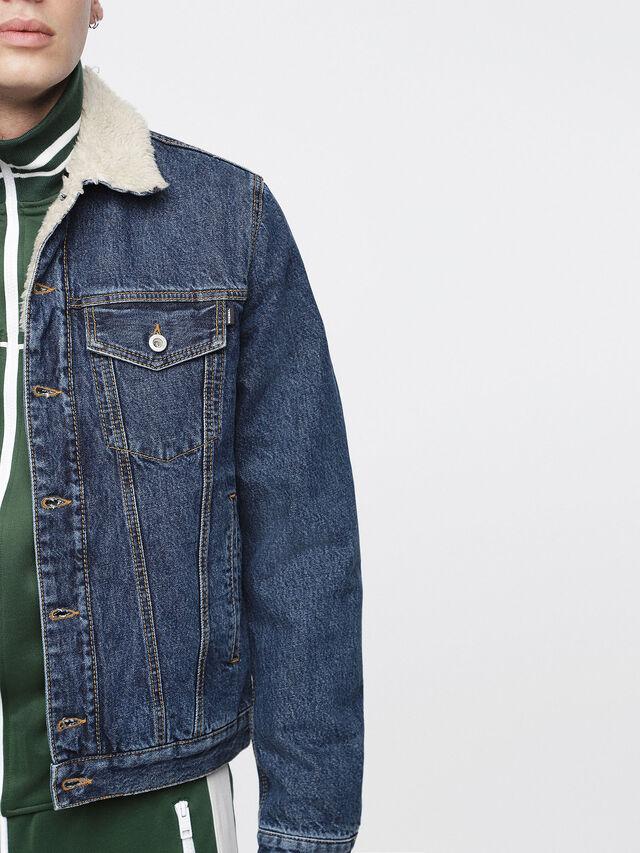 Diesel - D-GIOC-FUR, Blue Jeans - Winter Jackets - Image 5
