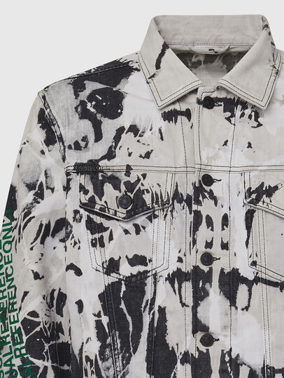 Diesel - NHILL-SP3, Black/White - Denim Jackets - Image 4