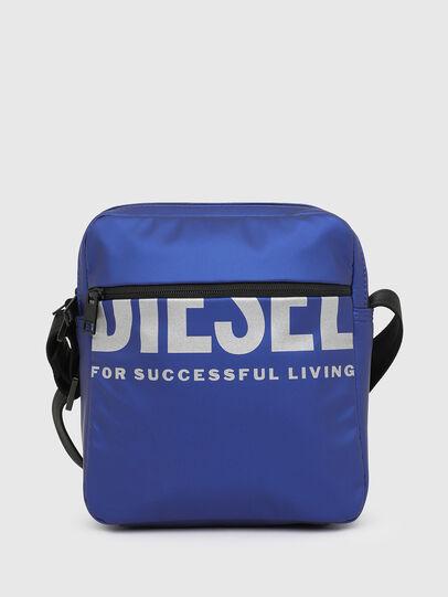 Diesel - F-BOLD DOUBLECROSS I, Blue - Crossbody Bags - Image 1