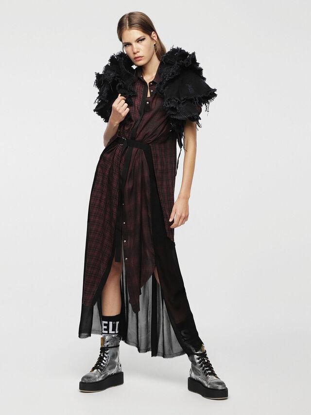 Diesel - D-BAGGY, Red/Black - Dresses - Image 6