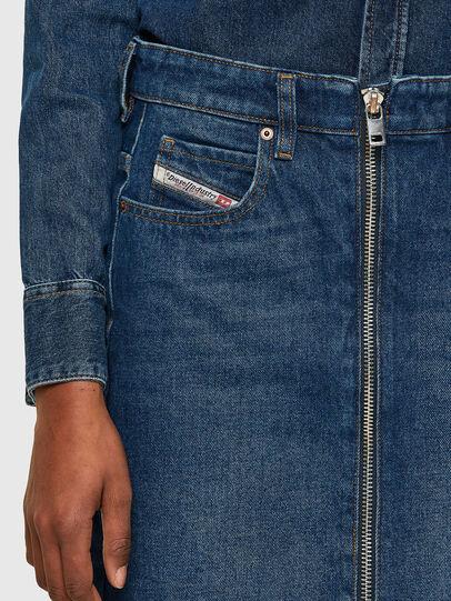 Diesel - DE-PENCIL-ZIP, Medium blue - Skirts - Image 3