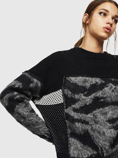 Diesel - M-POST, Black - Knitwear - Image 4