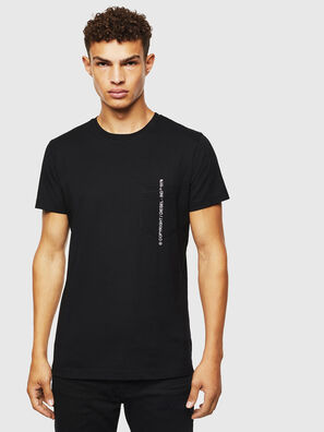 T-RUBIN-POCKET-J1, Black - T-Shirts