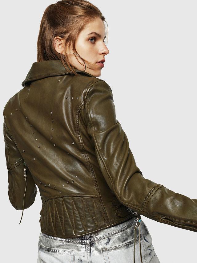 90cec8067 L-SINYA-A Women: Biker jacket in studded leather | Diesel