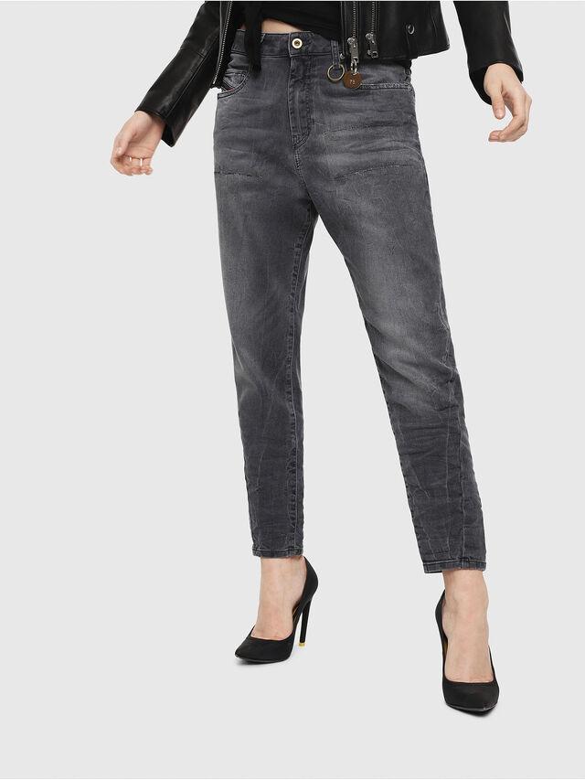 Diesel - Candys JoggJeans 069EP, Black/Dark grey - Jeans - Image 1