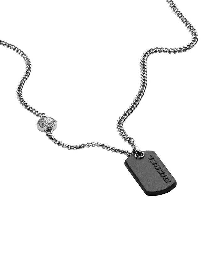 Diesel - NECKLACE DX1012, Silver - Necklaces - Image 2