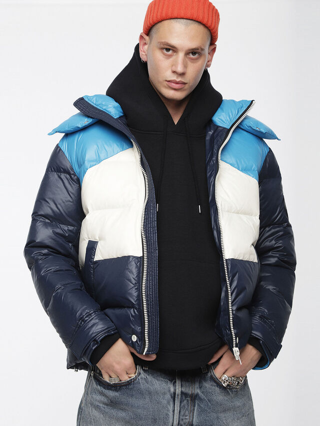 Diesel - W-SMITH, Multicolor/Blue - Winter Jackets - Image 1