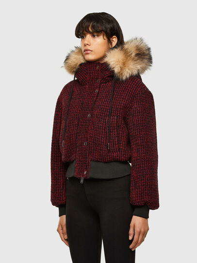 Diesel - W-SAMOEI-A, Black/Red - Winter Jackets - Image 7