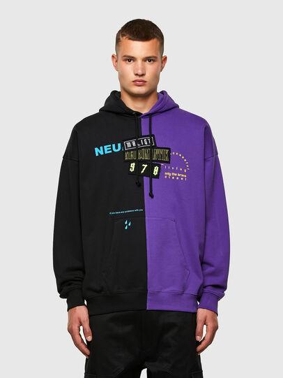 Diesel - S-UMMER-SPLIT-N1, Black/Violet - Sweaters - Image 1