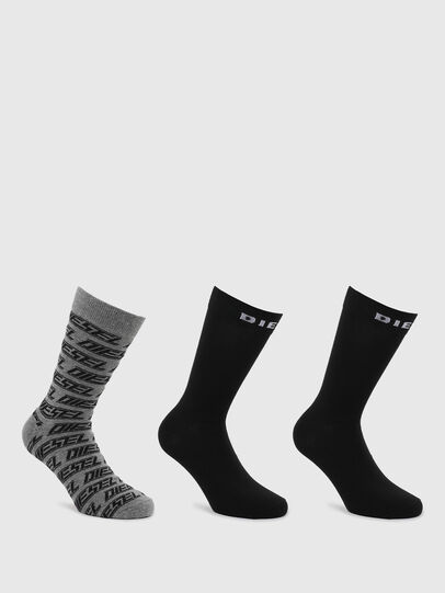 Diesel - SKM-RAY-THREEPACK, Black/Grey - Socks - Image 1