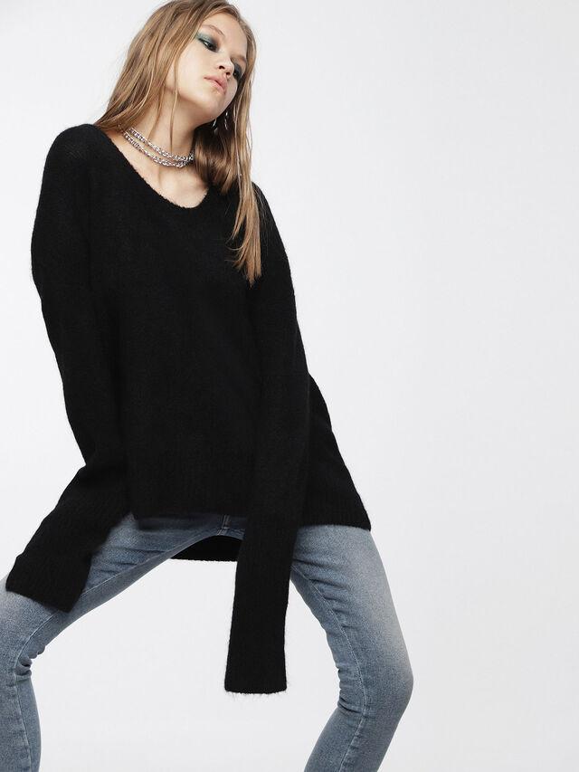 Diesel - M-ALPY, Black - Knitwear - Image 1