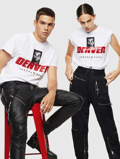 Diesel - LCP-T-DIEGO-DENVER, White - T-Shirts - Image 7