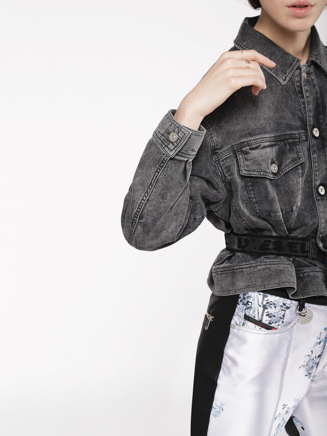 Diesel - KARLY JOGGJEANS, Black/Dark grey - Denim Jackets - Image 5