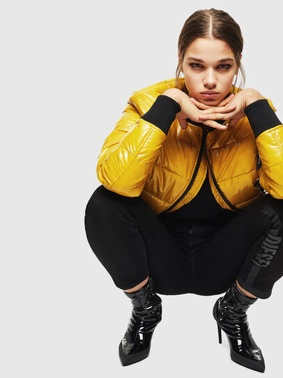 Diesel - W-ONY, Yellow - Winter Jackets - Image 4