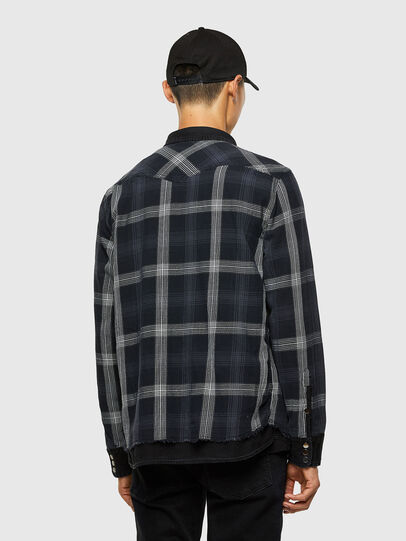 Diesel - D-WEAR-B1, Black - Denim Shirts - Image 5