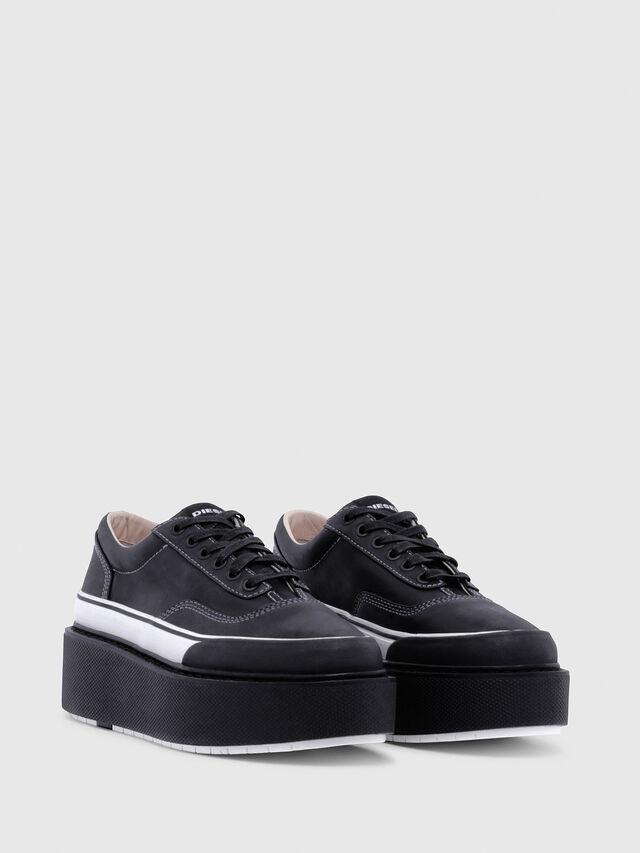 Diesel - H-SCIROCCO LOW, Black/White - Sneakers - Image 2