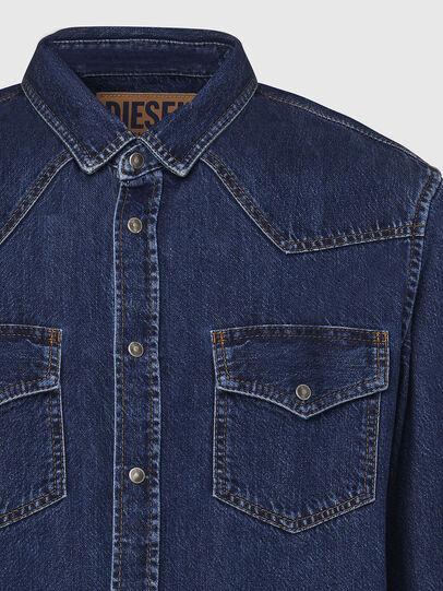 Diesel - D-EAST-P, Dark Blue - Denim Shirts - Image 3
