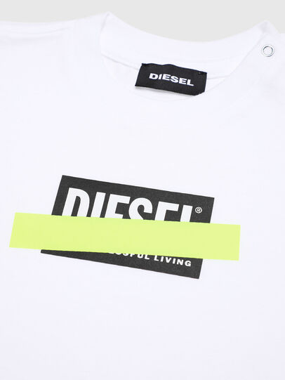 Diesel - TJUSTDIXB, White - T-shirts and Tops - Image 3