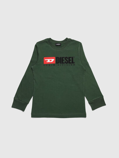Diesel - TJUSTDIVISION ML, Dark Green - T-shirts and Tops - Image 1