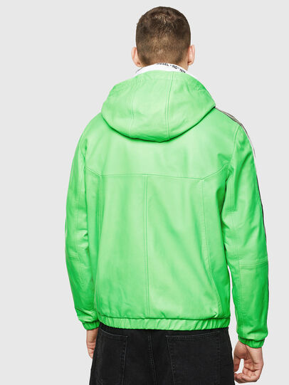 Diesel - L-CARRSY, Green Fluo - Leather jackets - Image 2