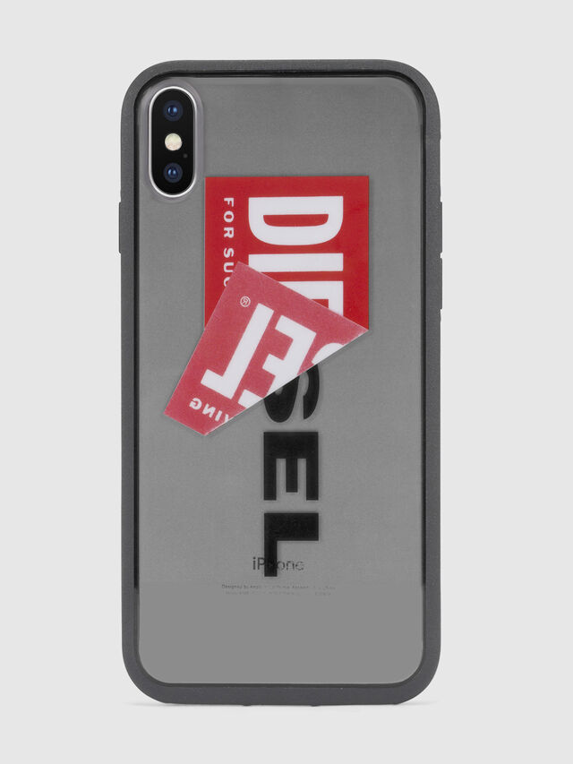 Diesel - STICKER IPHONE X CASE, Black - Cases - Image 2