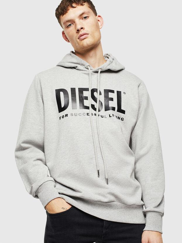 S-GIR-HOOD-DIVISION-, Light Grey - Sweaters