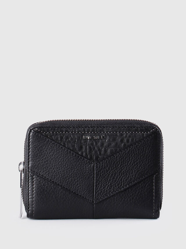 Diesel - JADDAA, Black Leather - Small Wallets - Image 1