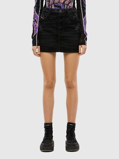 Diesel - DE-FREESIA-SP, Black - Skirts - Image 1