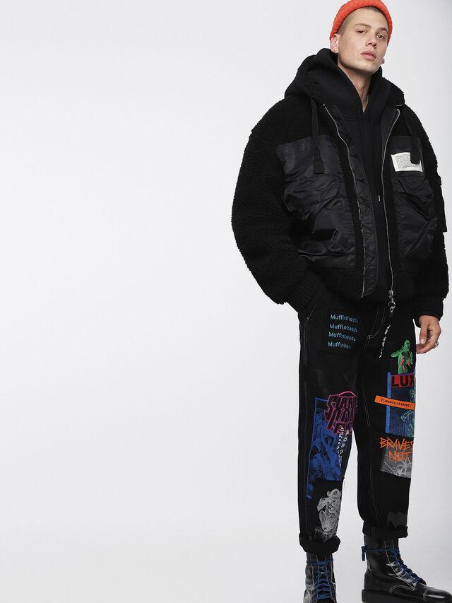 Diesel - W-PATTY, Black - Winter Jackets - Image 6