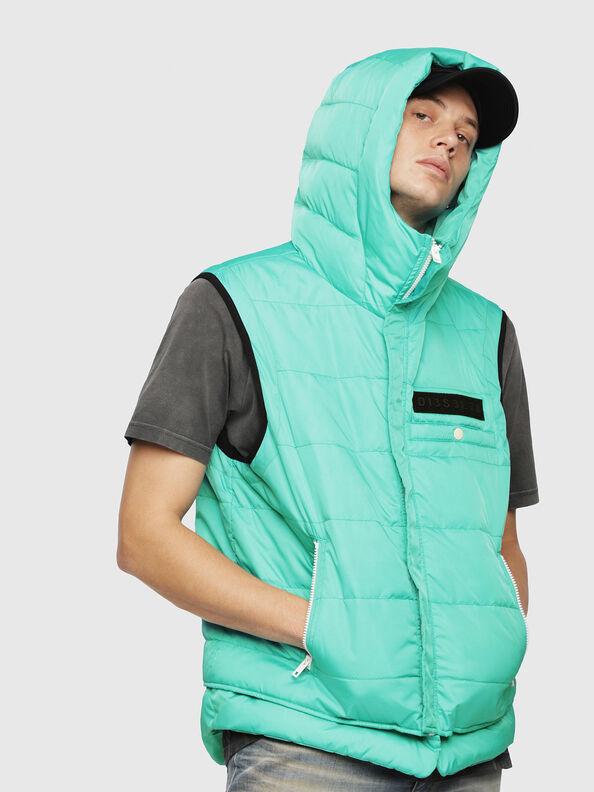 W-SUN-REV-SLESS, Water Green - Winter Jackets