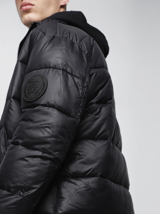 Diesel - W-SMITH-A-WH, Black - Winter Jackets - Image 3