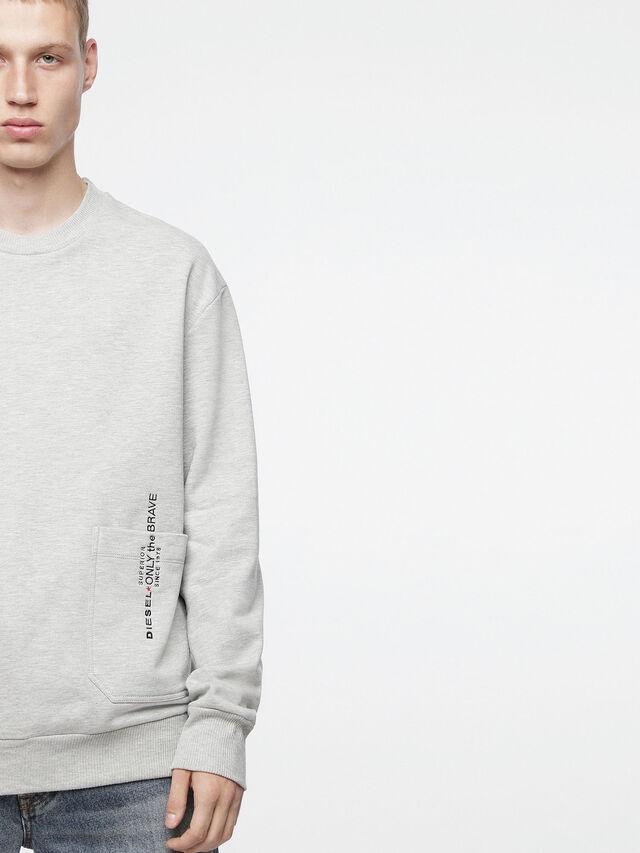 Diesel - S-ELLIS-XX, Light Grey - Sweaters - Image 3
