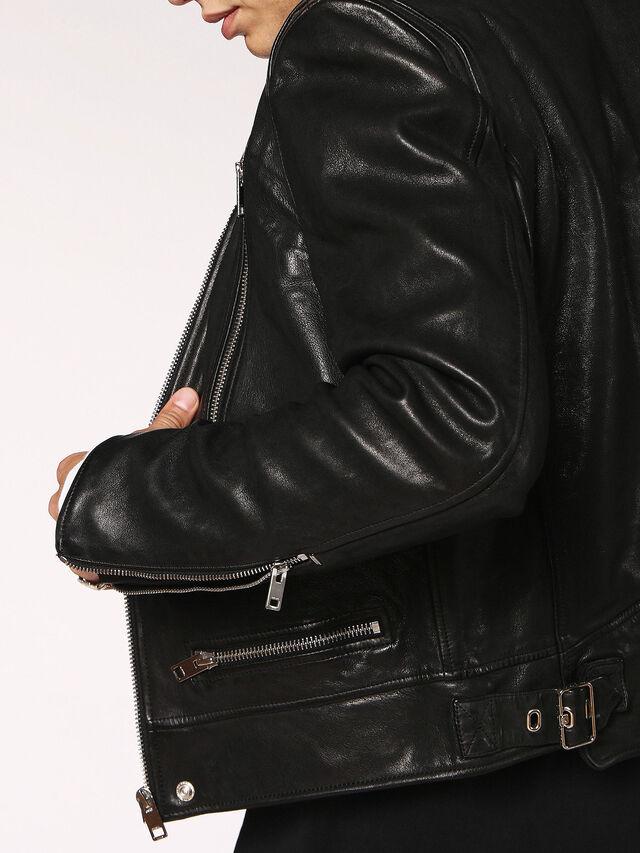 Diesel - L-HARDSTYLE, Black - Leather jackets - Image 4