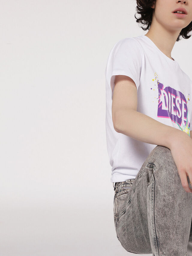 Diesel - T-EXPLO, White - T-Shirts - Image 3
