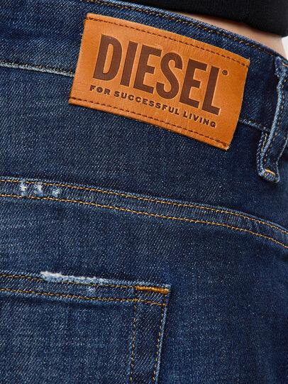 Diesel - Fayza 0F9ET, Dark Blue - Jeans - Image 4