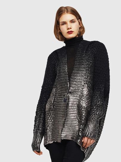Diesel - M-MIKO, Black/Silver - Knitwear - Image 1