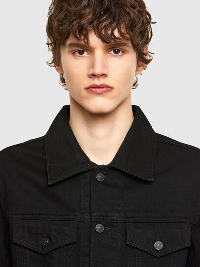 Diesel - NHILL-C1, Black - Denim Jackets - Image 5