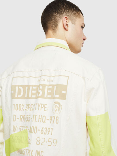 Diesel - NHILL-SP, White - Denim Jackets - Image 5